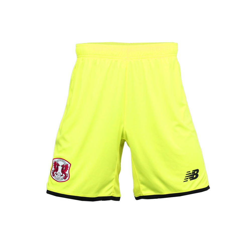 Goalkeeper Replica Shorts Yellow 19-20 - Mens Adult