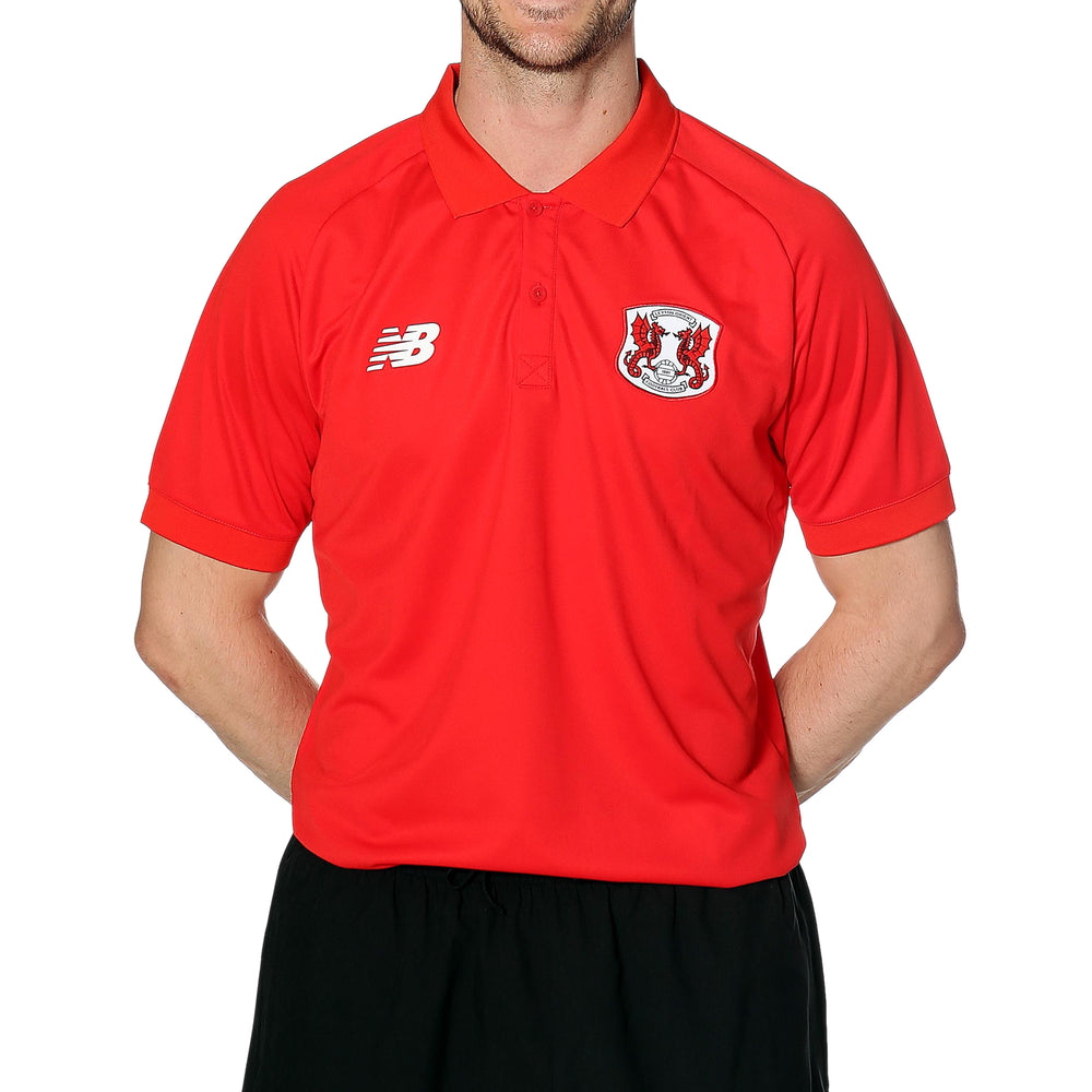 Mens Training Polo Red