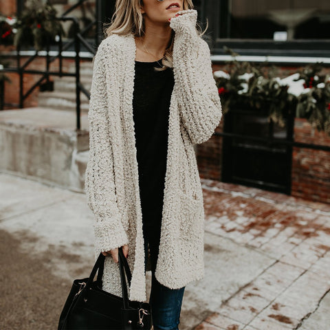 Fashion Knit Double Bag Sweater Cardigan