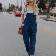 Baggy And Retro Jeans With Nine Point Trousers Jumpsuits