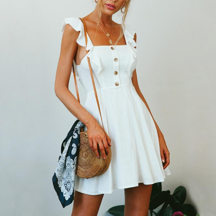 Fashion Holiday Casual Solid   Color Mini Dress