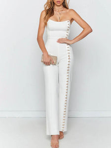 Fashion Sexy Cross Straps Decorated Jumpsuit