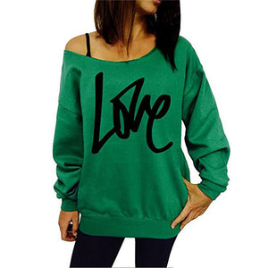 Fashion Letter Print Long Sleeve Sweatshirt