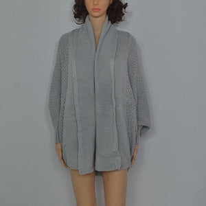 Fashion Loose Bat Sleeve Knit Cardigan Sweater Jacket