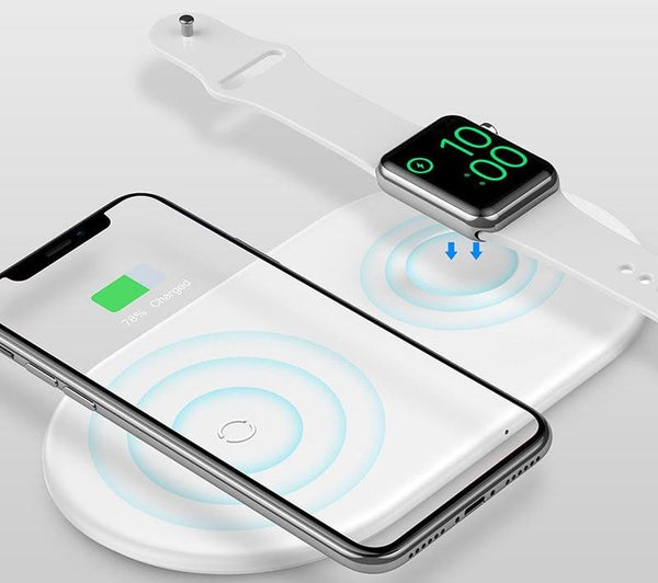 2 in 1 Desktop Wireless Charger Pad For Apple Watch And iPhone
