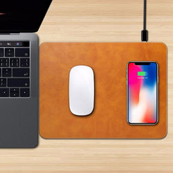 2 in 1 Wireless Charger Mouse Pad Mat for iPhone Samsung