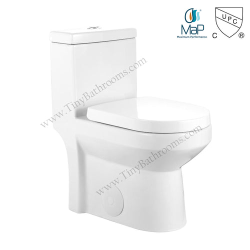 This 24.5 inch toilet is perfect for small spaces.