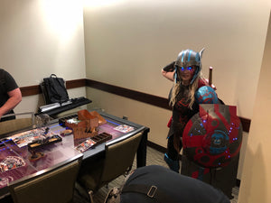 Thor next to the 2nd Breakfast at PAX West