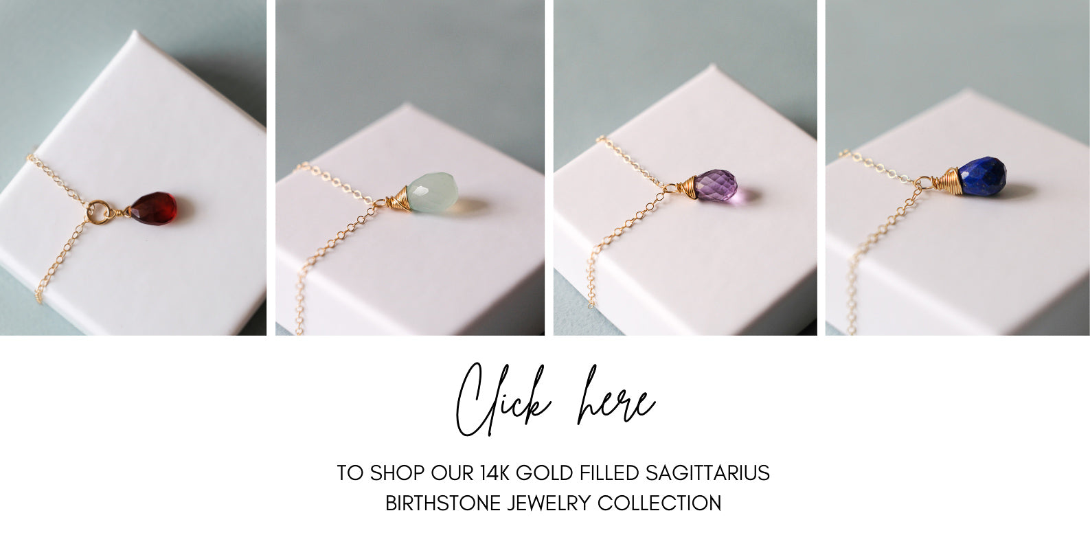 14K Gold Filled Sagittarius Birthstone Jewelry Collection | Inspiration Her