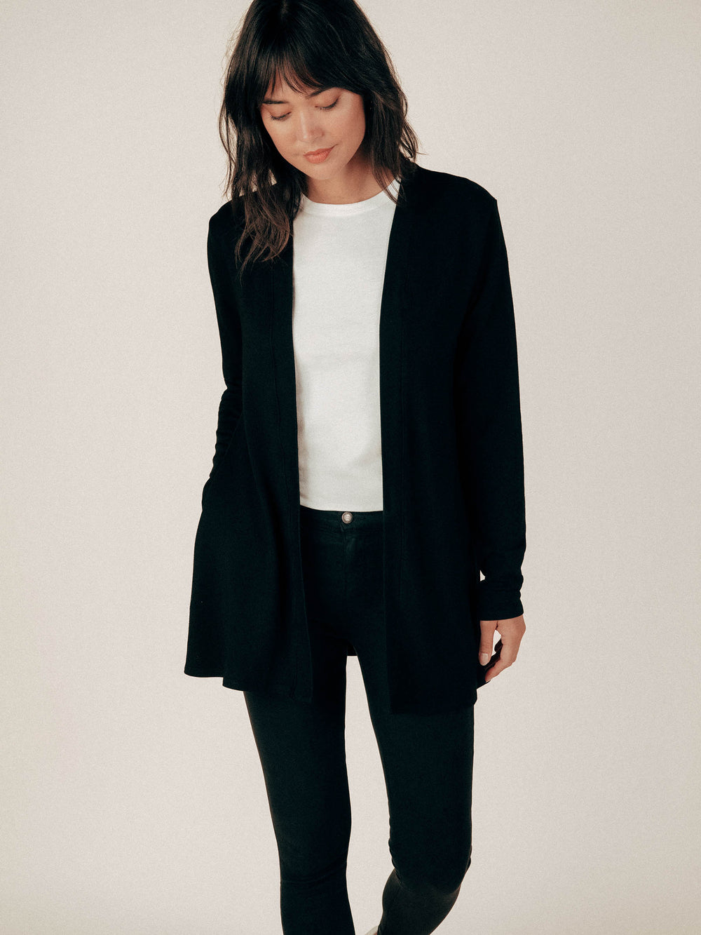 Black French Terry Cardigan - Graceful District