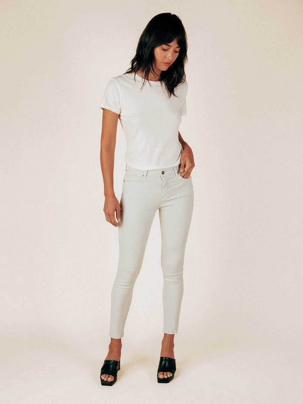 Ice Gray The Perfect 4 Pocket Pant - Graceful District