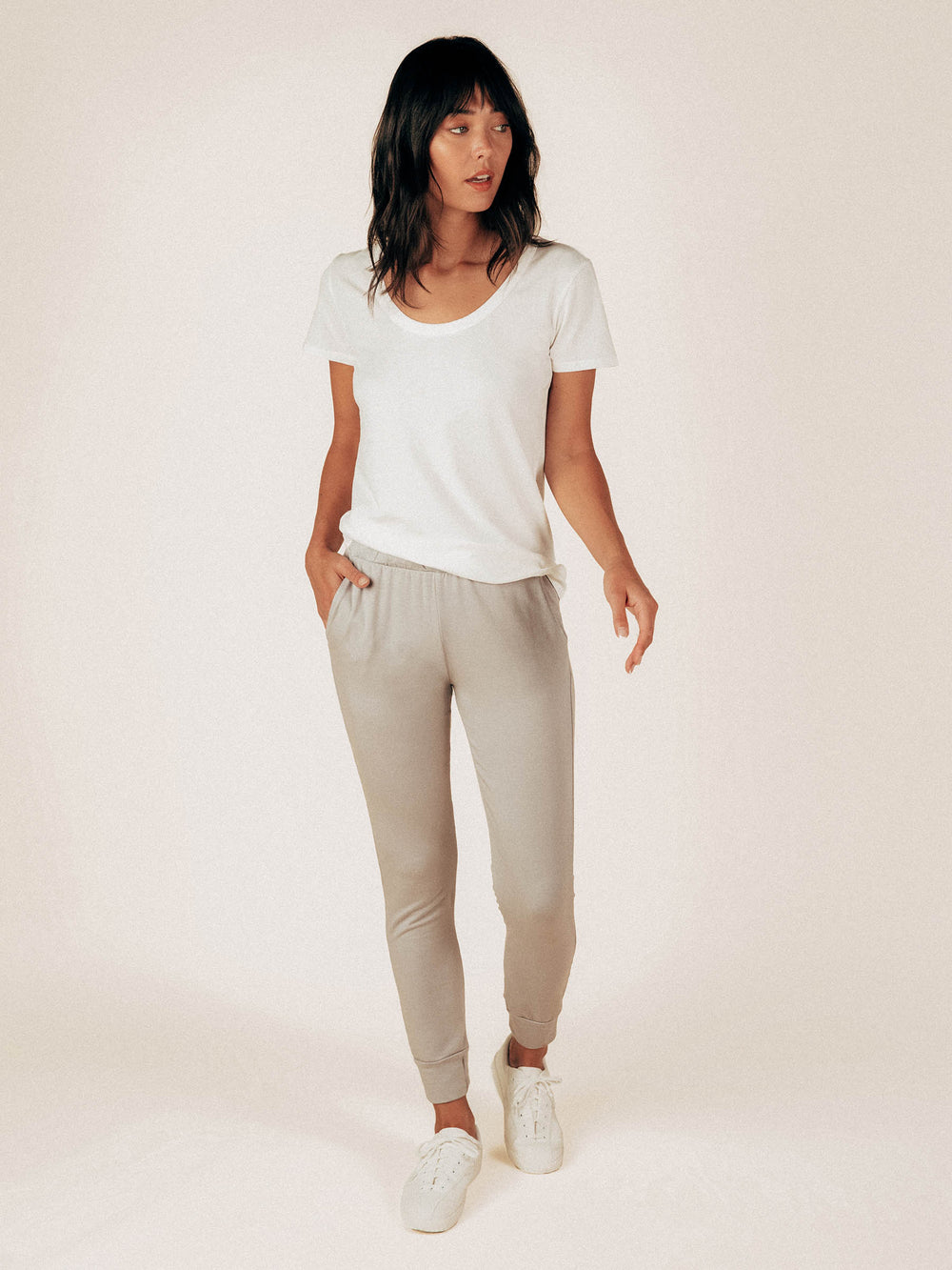 Ice Gray French Terry Sweatpant - Graceful District