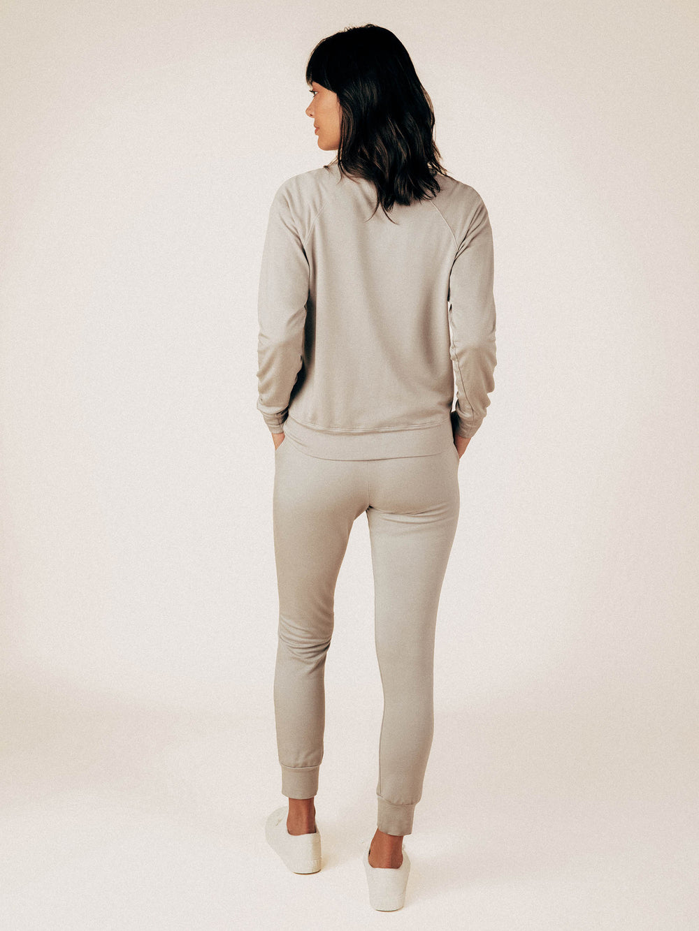 Ice Gray French Terry Raglan Sweatshirt - Graceful District