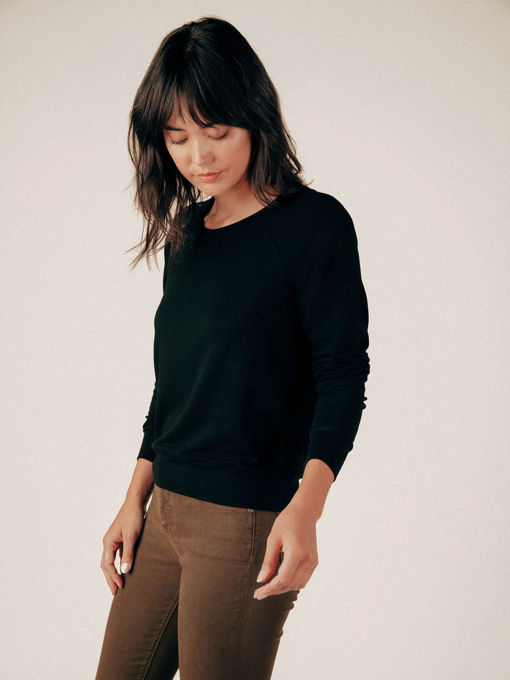 Black French Terry Raglan Sweatshirt - Graceful District