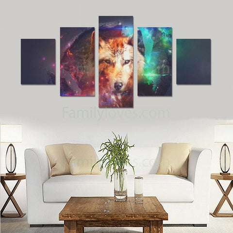 WOLF ART  CANVAS 5 PIECES Art Prints canvas, carthook_checkout, wolf- Nichefamily.com
