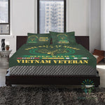Duvet Cover and Pillowcases feel safe at night sleep with a Vietnam Veteran Bedding Set carthook_checkout, carthook_vietnam, duvet&fillow, vietnam, vietnam veteran, vietnam veterans- Nichefam