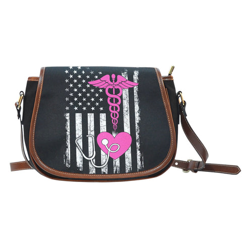 American Nurse Saddle Bag  bag, carthook_checkout, job, NURSE, nurse bag- Nichefamily.com