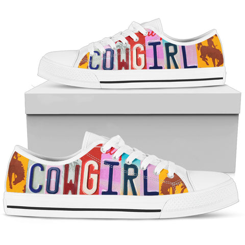 Cowgirl - White Low Top Shoes  - Nichefamily.com