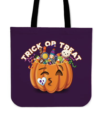 Trick Or Treat Puple Tote Bag  - Nichefamily.com