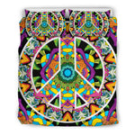 Hippie Peace Mandala Bedding Set.  - Nichefamily.com