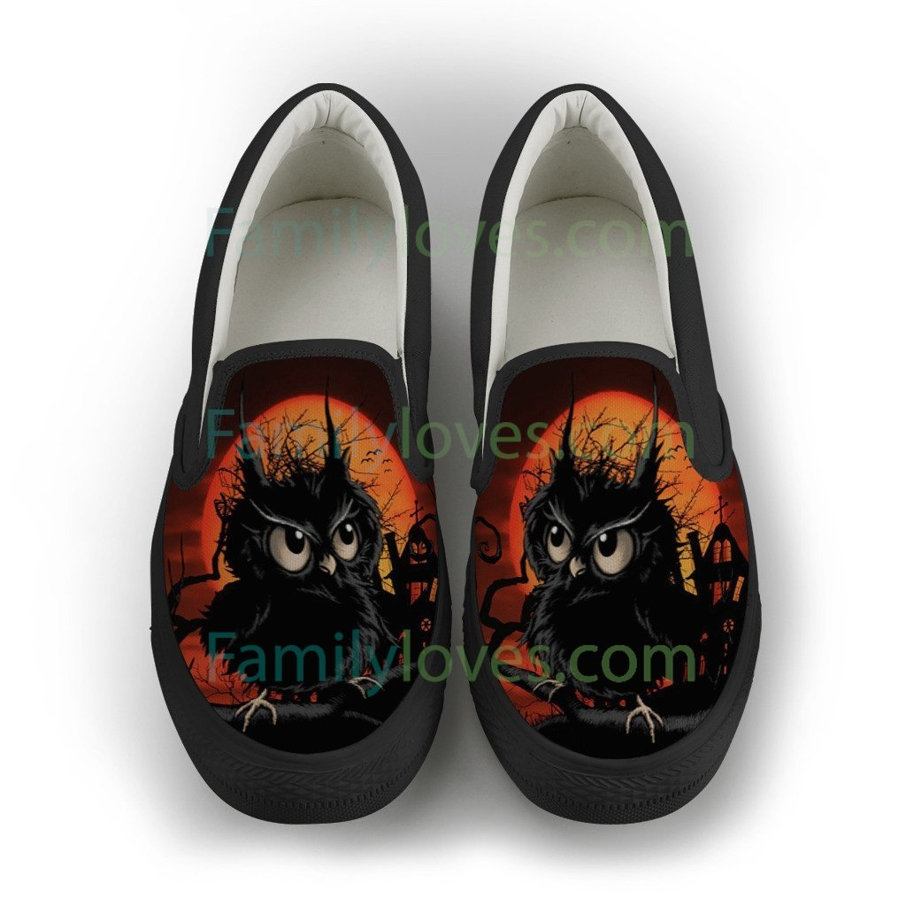 Buy NATIVE AMERICAN  OWL SLIP-ON SHOES - Familyloves hoodies t-shirt jacket mug cheapest free shipping 50% off