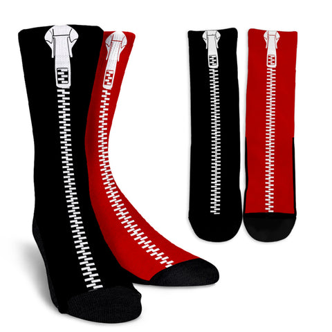Black-Red-L-001 Crew Socks  - Nichefamily.com