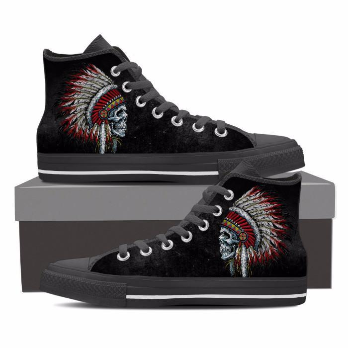 Buy Native American skull Shoes - Familyloves hoodies t-shirt jacket mug cheapest free shipping 50% off