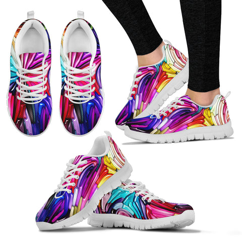Colorful Liquid Art HandCrafted Sneakers.  - Nichefamily.com