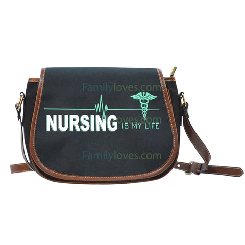 Nursing Is My Life Saddle Bag  carthook_checkout, job, NURSE, nurse bag- Nichefamily.com