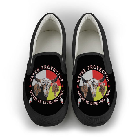 Native American Water Is Life Slip-on Shoes carthook_checkout, meta-size-chart-shoes-size-guide, Native, Native Shoes, Shoe, Shoes- Nichefamily.com