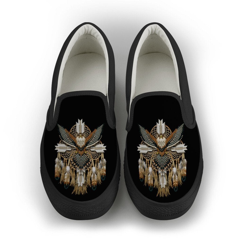 Buy NATIVE AMERICAN DREAMCATCHER SLIP-ON SHOES - Familyloves hoodies t-shirt jacket mug cheapest free shipping 50% off