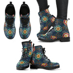 Handcrafted Paisley Mandala 2 Boots  - Nichefamily.com