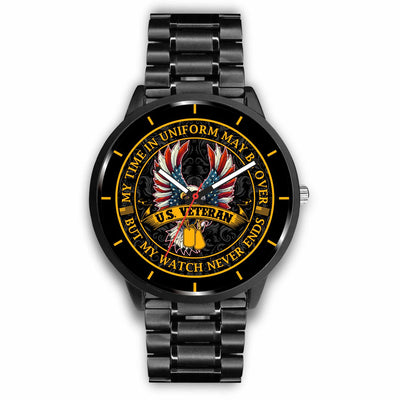 Buy My time in uniform may be over but my watch never ends U.S. Veteran-watch - Familyloves hoodies t-shirt jacket mug cheapest free shipping 50% off