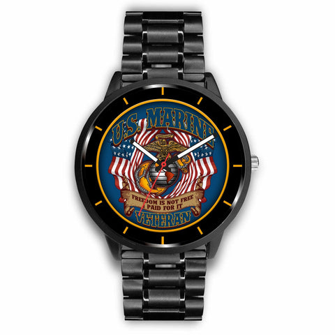 U.S. Marine freedom is not free I paid for it veteran-watch Watch carthook_checkout, carthook_marine_embroidered, marine, meta-related-collection-veterans, meta-related-collection-watches, me