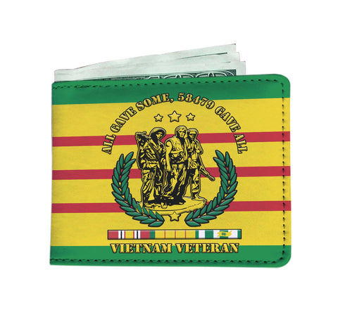 All gave some, 58479 gave all Vietnam veteran Men's Wallet Mens Wallet carthook_checkout, Men Wallet, meta-relate-collection-wallet, vietnam veteran, vietnam veterans, wallet- Nichefamily.com