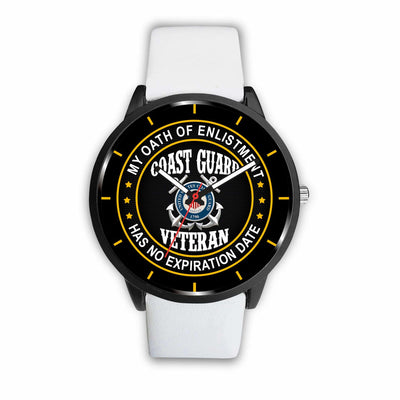 Buy My oath of enlistment has no expiration date Coast Guard veteran- watch - Familyloves hoodies t-shirt jacket mug cheapest free shipping 50% off