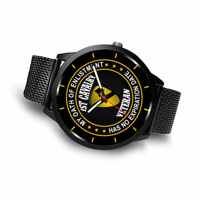 Buy My oath of enlistment has no expiration date 1st Cavalry veteran- watch - Familyloves hoodies t-shirt jacket mug cheapest free shipping 50% off
