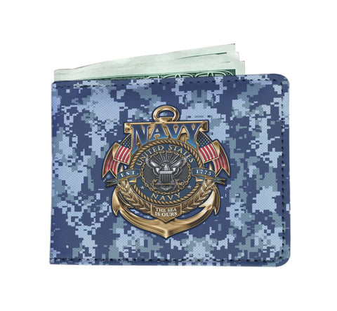 U.S Navy the sea is ours Men's Wallet Mens Wallet carthook_checkout, carthook_navy, Men Wallet, meta-relate-collection-u-s-navy-seals, meta-relate-collection-wallet, navy seals, wallet- Niche