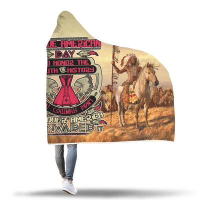 Buy NATIVE AMERICAN DAY TO HONOR... HOODIE BLANKET - Familyloves hoodies t-shirt jacket mug cheapest free shipping 50% off