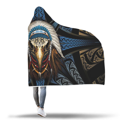 Buy Eagleskull American Native Hooded Blanket - Familyloves hoodies t-shirt jacket mug cheapest free shipping 50% off