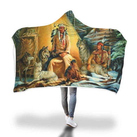 NATIVE AMERICAN ARCHIVES HOODED BLANKET Hooded Blanket carthook_checkout, hookedblacket, hookedblanket, native, Native America, Native American- Nichefamily.com