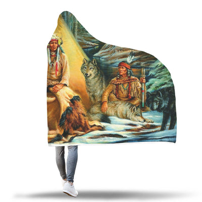 Buy NATIVE AMERICAN ARCHIVES HOODED BLANKET - Familyloves hoodies t-shirt jacket mug cheapest free shipping 50% off