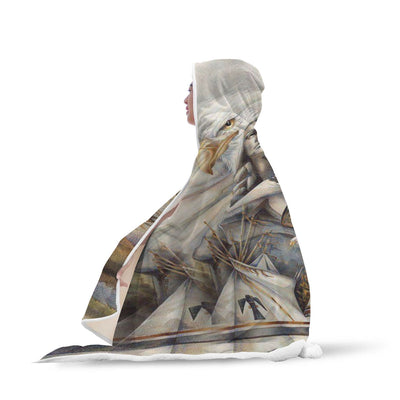 Buy NATIVE AMERICAN EAGLE HOODED BLANKET - Familyloves hoodies t-shirt jacket mug cheapest free shipping 50% off