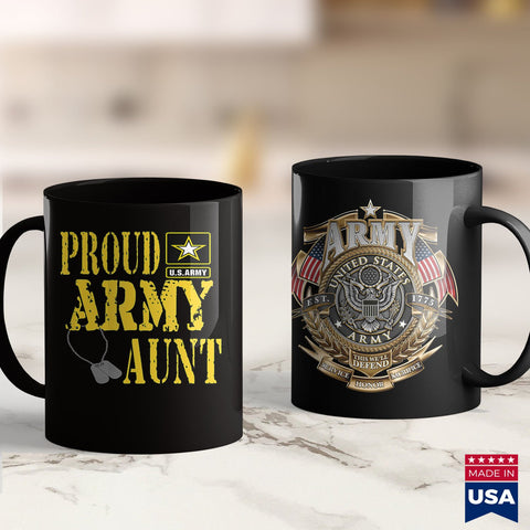 1St Army Proud Army Aun Military Pride  Badass Military T Shirts 11Oz 15Oz Coffee Mug Drinkware Army Canteen, Army Flag, Army Gear, Army Mom, Army Net, Army Patches, Army Pjs, Army Wallet, Ar
