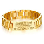 I WANTED TO SERVE...U.S COAST GUARD VETERAN MEN'S BRACELETS  bracelet, carthook_checkout, COAST GUARD, Men Gold Bracelets, meta-related-collection-army, meta-related-collection-coast-guard, m