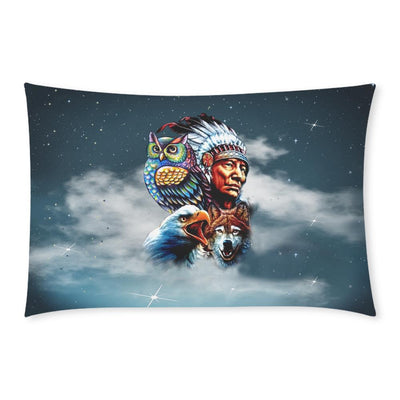 Buy Chief & Spirit Animal Galaxy Background Native American Pride 3-Piece Bedding Set 1 Duvet Cover 2 Pillowcases - Familyloves hoodies t-shirt jacket mug cheapest free shipping 50% off
