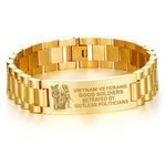 Vietnam veteran good soldiers betrayed by gutless politcians men's bracelets  bracelet, carthook_checkout, Men Gold Bracelets, meta-related-collection-veterans, meta-related-collection-vietna