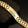 My Favorite people call me papa-men bracelets  carthook_checkout, dad, family, HUSBAND, jewelry, Men Gold Bracelets, mom, son, wife- Nichefamily.com