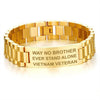 WAY NO BROTHER. EVER STAND ALONE. VIETNAM VETERAN - MEN'S BRACELETS  air force, airborne, bracelet, carthook_airjacket, carthook_checkout, carthook_marine_embroidered, carthook_navy, COAST GU