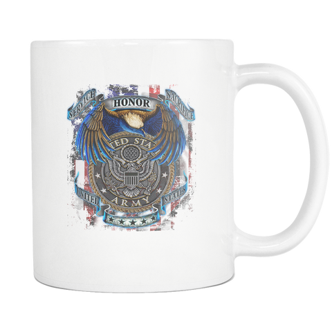 U.S.ARMY. SERVICE HONOR SACRIFICE MUG v 2.0 Drinkware army, carthook_armyjacket, carthook_checkout, meta-related-collection-army, MILITARY, mug, veteran- Nichefamily.com
